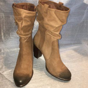 UGG Brown/Tan Leather Slouched Boot DAYTON  Sz 9.5